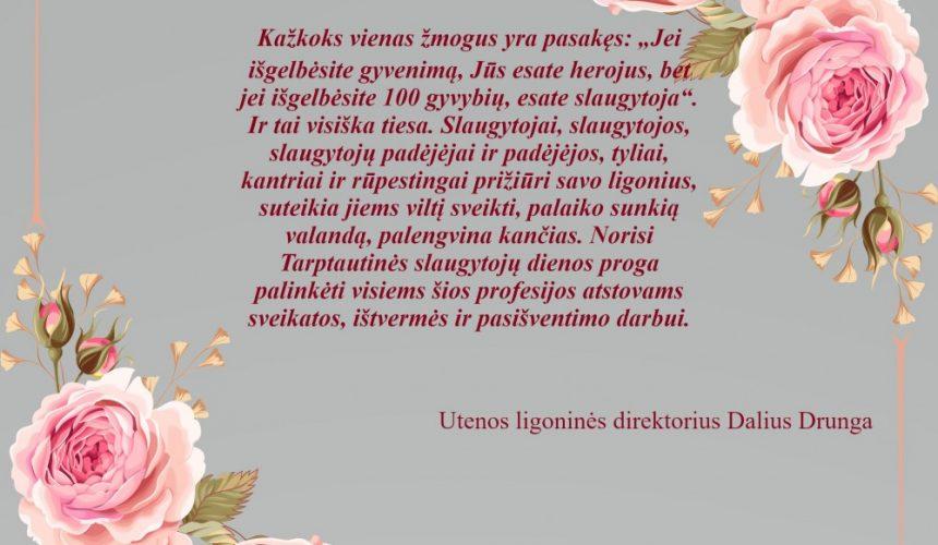 Sveikiname su Tarptautinė slaugytojų diena
